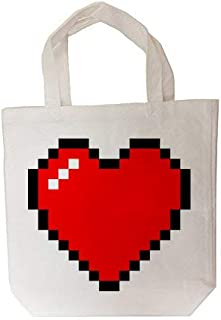 8-Bit Heart Video Game - Tote Bag