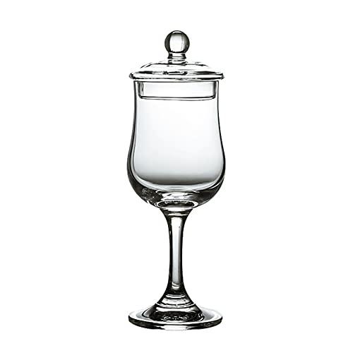 XiangHeWang Copita de estilo europeo Sommelier Copita Nosing Copa Tulipán Catador de vino Copa de whisky con tapa de coñac Brandy Snifters Copa degustación (Color: A)