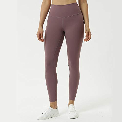 B/H Pantalon Bouffant pour Sport Jogging Danse,Pantalon Taille Haute pêche Hanche, Legging Fitness Running-Dove Plume Gris_L