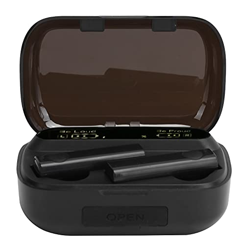 Auriculares inalámbricos, control táctil Bluetooth5.1 Auricular, con pantalla digital LED, Estuche de carga de gran capacidad, Auriculares estéreo TWS estéreo impermeables para teléfono(negro)