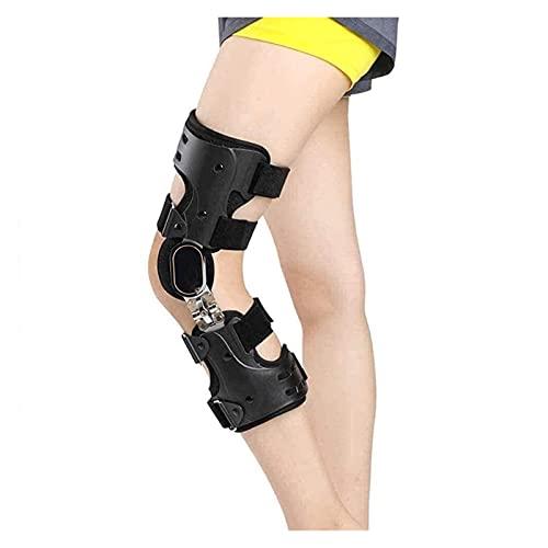 Bracen de la rodilla con bisagra ajustable, férula de la ortesis de la rodilla del estabilizador de la pierna para la acl, PCL, MCL o protector de protector de protección ortopédica transpirab