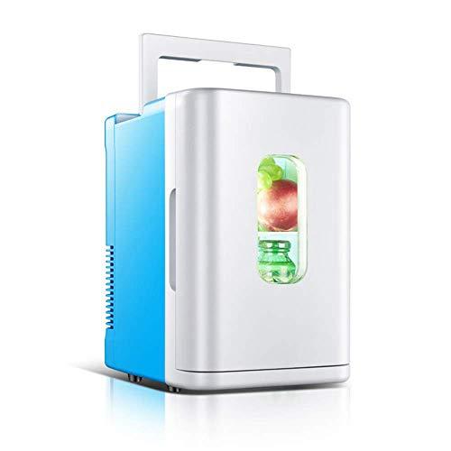 LUNAH Auto Kühlschränke Mini Kühlschrank Gefrierschrank Kühlboxen Wärmer Stille Tragbare Kleine Elektrische für Reisen Camping Tisch Schlafzimmer Getränke Bier 12 V 10 L Capacit, A