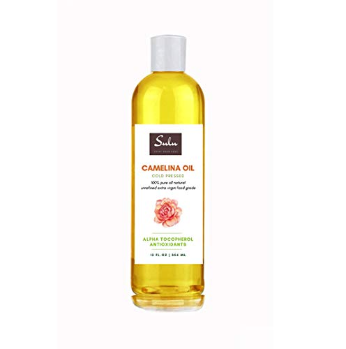 100% Pure Cold Pressed Extra Virgin Unrefined Camelina Seed Oil (8 oz)