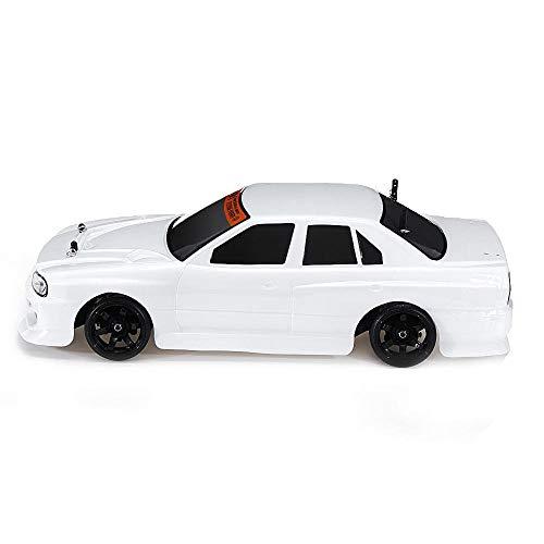 Zengqhui Auto de Control Remoto Modelos del Coche de RC RTR 1/10 vehículos 2.4G Cepillo Drift Regalos Divertidos Gadgets geniales (Color : White, Size : One Size)