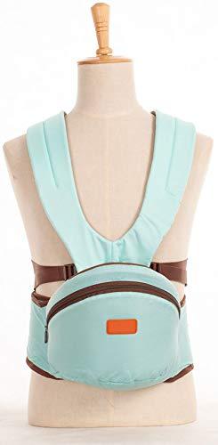 Carrier con Sedile Dell'anca, Maglia Ergonomica, Poliestere/in Nylon, Adattata alla Crescita del Bambino, Facile da Trasportare EA Mamma Facile (Rossa),Light Blue