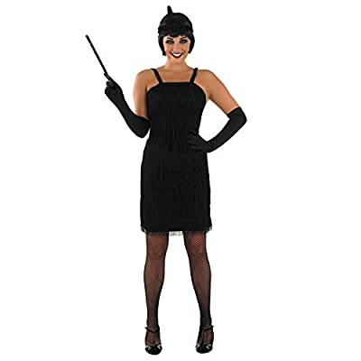 Womens 20s Flapper Girl Costumes Fringed Decades Dresses