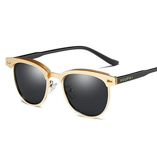 Burenqi Gafas de Sol polarizadas para Hombres Gafas de Sol Retro para Mujer,3