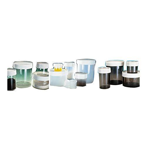 Nalgene 2118-9050 Polypropylene 15mL Wide-Mouth Straight-Sided Jar (Pack of 12)