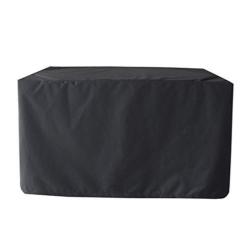 SIQILV Meubles De Jardin Couverture, Imperméable Coupe-Vent Anti-UV Heavy Duty Rip Proof Oxford Tissu Housse De Meuble De Jardin Table Chaise Sofa Rectangulaire,Noir,315x160x74cm