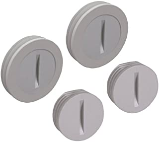 Hubbell-Bell PCP47550GY Weatherproof Accessories with Nonmetallic Closure Plug and 1/2-Inch 3/4-Inch Per Polybag, Gray