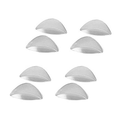 Pixnor Gel-solette in silicone trasparente adesivo; supporto plantare per i piedi piatti, set di 4