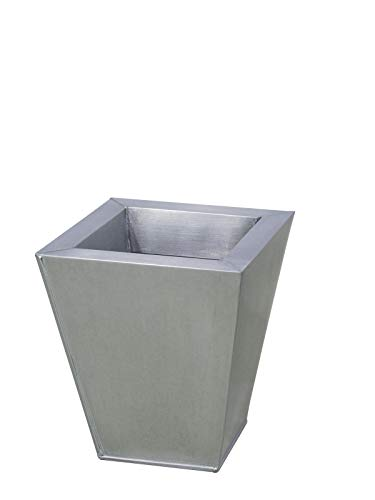 Europalms 83051825 Flowerpot, Zinc, 25 cm carré, Multicolore, Taille Unique