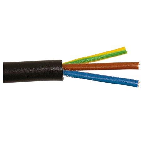 LEDKIA LIGHTING Cable Eléctrico Manguera 3x1mm² 1.9m H05RN-F Negro