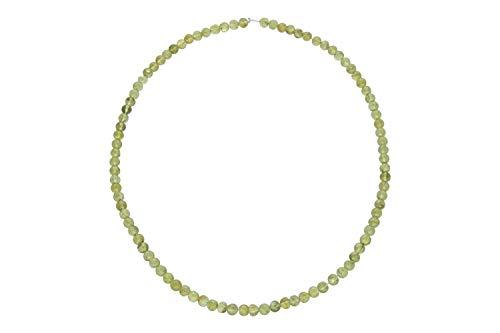 1001Kristall Fil à billes 4,5-5 mm/42 cm, péridot (olivine).