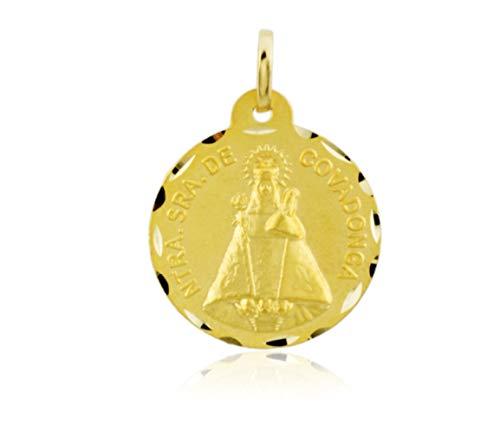 Yerko-W&J Medalla Virgen De Covadonga Oro 18K.