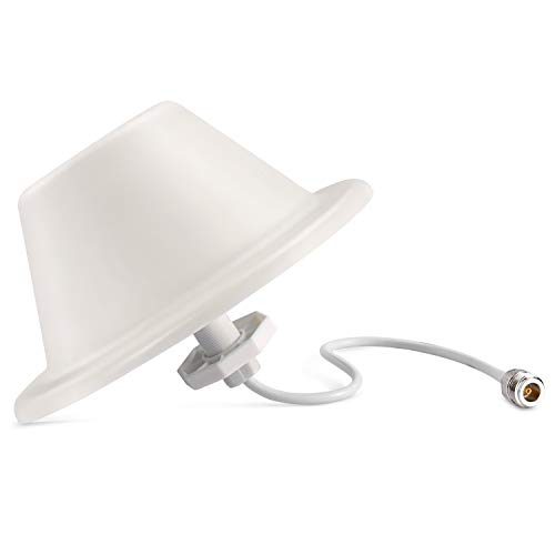 Dome Ceiling Antenna, XRDS-RF Omni-Directional Indoor Antenna 3G/4G/GSM/LTE High Performance Wide Band Antenna with N-Female Connector for Cell Phone Signal Booster Router Gateway
