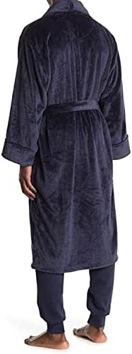 Daniel Buchler Men's Navy M/L Soft Plush Waist Tie Robe