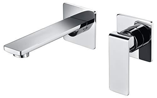 Grifo de lavabo pared empotrado Imex Fiyi GLF016