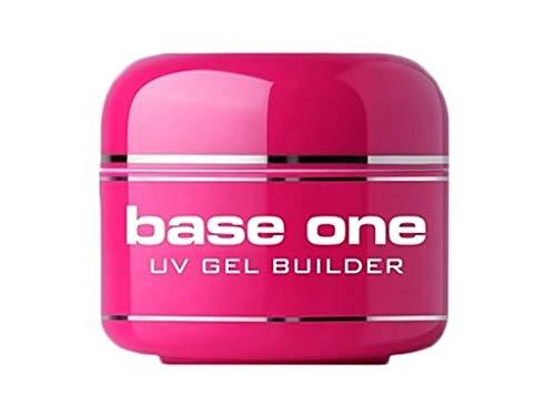 Silcare - Gel Uv French Pink Babyboomer modellante Builder autolivellante media densità - allungamento unghie - Effetto rosa latte lattiginoso nude naturale - 15 g