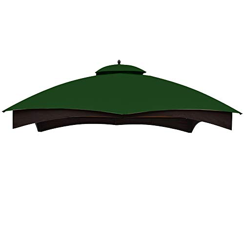ABCCANOPY Replacement Canopy Top for Lowe's Allen Roth 10X12 Gazebo #GF-12S004B-1(Forest Green)