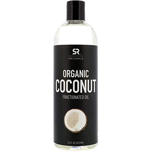 Organic Liquid Coconut Oil for Skin, Massage & Aromatherapy ~ 100% Organic Certified & Non-GMO Verified Fractionated Coconut Oil (16oz Bottle with Pump)
