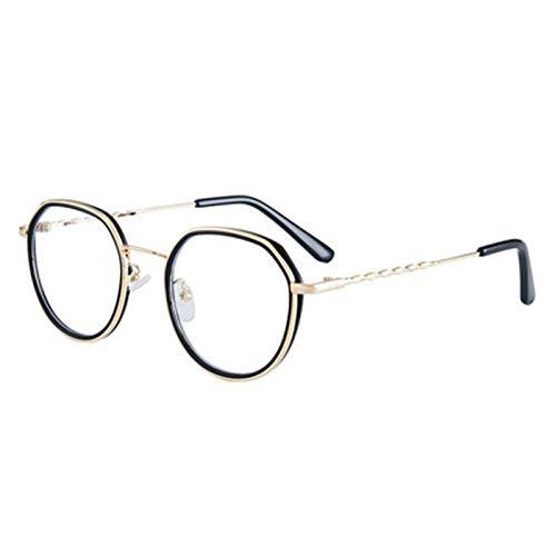 WYGC Gafas para Ordenador Anti Luz Azul, Gafas Unisex Redondas con Bloqueo de luz Azul para Reducir el Dolor de Cabeza Anti Fatiga Ocular (Color : A1)