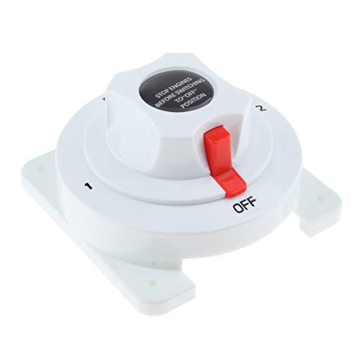 P Prettyia Interruptor Selector de Aislador de Batería Dual Universal para Veleros Marinos RV - 4 Posiciones