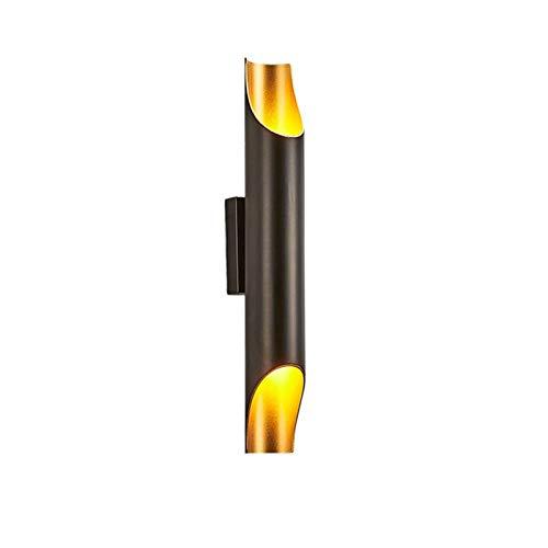 YXLMAONY Lámpara de pared moderna con luz cálida de un solo cabezal, cuerpo de lámpara LED de aluminio, lámpara de decoración para el hogar de 10 W, lámpara de pared para iluminación de dormitorio int