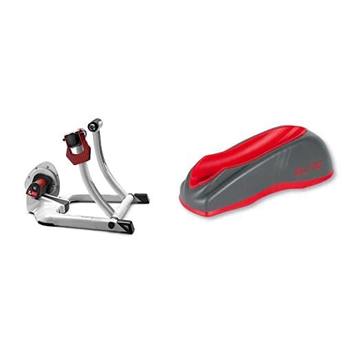 Elite E306 Qubo Fluid - Rodillo Tecnología Fluid De Ciclismo + Calce Rueda Delantera Hometrainer Gel Block