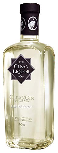 CleanCo Limited Edition CleanG Elderflower - Low Alcohol, Low Calorie | No Sugar, No sweeteners | Botanical flavouring | Vegan, Gluten-Free 1.2% Vol 70cl