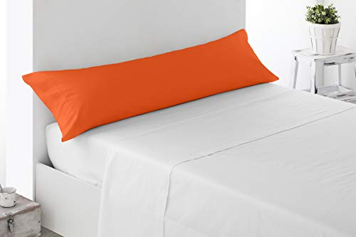 Miracle Home Housse de coussin douce et confortable en coton 50 % polyester Orange 135 cm