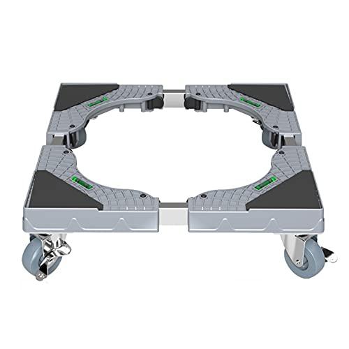 RUIVE Base Mobile per Supporto Mini Frigo, Base Mobile Regolabile per Supporto Frigo, Base Mobile Multifunzionale per Carrello Base Mobile Regolabile per Asciugatrice, Lavatrice E Mini Frigorifero