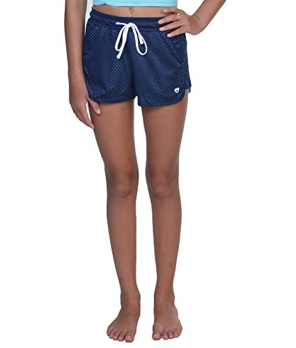 Colosseum Active Girl's Parker Mesh Running Short (Navy, Medium)