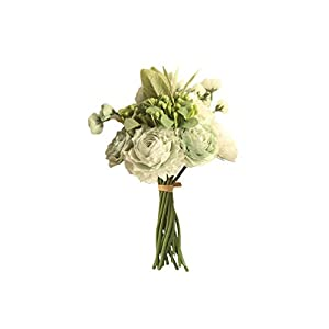 Artificial Flowers Persian Buttercup Crowfoot Ranunculus Wedding Bride Hand Tied Bouquet Home Decoration Flowers