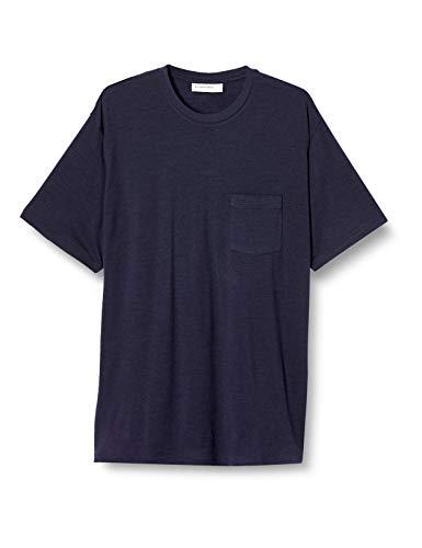 [アイスブレーカー] Tシャツ 150 ショートスリーブ ポケット クルー メンズ ミッドナイトネイビー L
