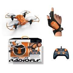 ODS- SpaceGlove 12 Radiofly Drone Quadricottero Radiocomandato, Colore Arancio Nero, 40009