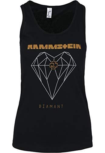 Rammstein Damen Ladies Diamant Tanktop Top, Schwarz (Black 00007), Small (Herstellergröße: S)