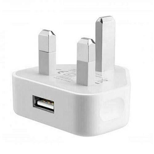 N / E Adaptador de enchufe de pared de 3 pines con puertos USB para teléfonos y tabletas Samsung para iPhone
