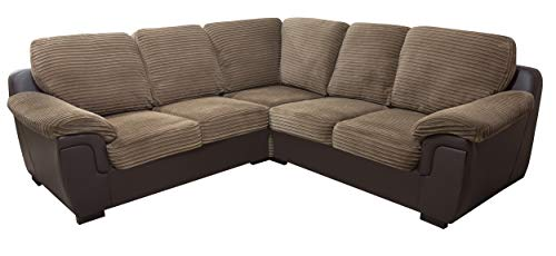 Sofas and More CORNER SOFA - AMY - BROWN - FABRIC