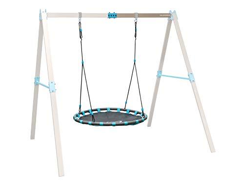 HUDORA 64025 Vario Ergänzungsmodul Nest individuell konfigurierbare Garten-Schaukel, beige/blau