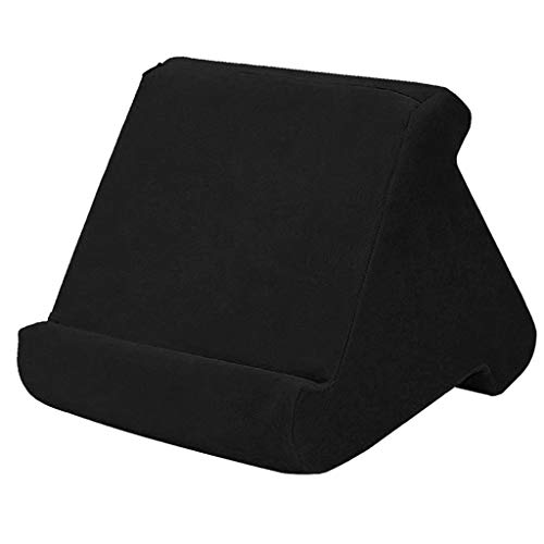 FLAMEER Tablet Pillow Stands for Pad Book Reader Holder Rest Laps Reading Cushion - Black