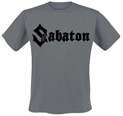 Sabaton Logo Männer T-Shirt Charcoal XL 100% Baumwolle Band-Merch, Bands