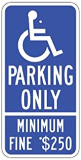 California Handicap Parking Only Sign ADA Approved