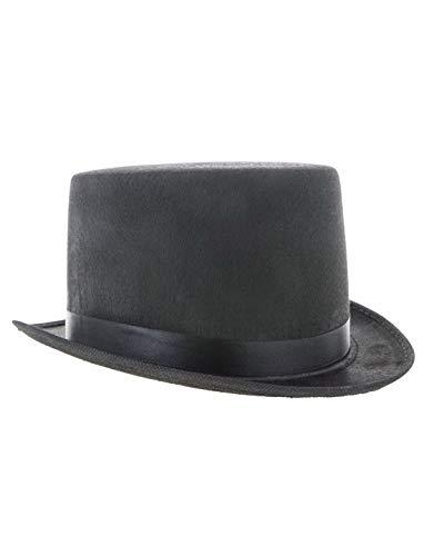 erdbeerclown - Kostüm Accessoires Zubehör Kinder klassischer Zylinder Hut, Classic Cylinder Hat, perfekt für Karneval, Fasching und Fastnacht, Schwarz