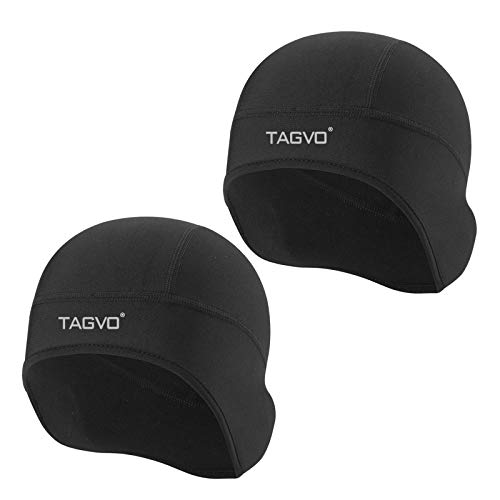 TAGVO Winter Thermal Skull Cap, Cycling Running Beanie Hat with Ear Cover, Motorcycle Windproof Elastic Beanie Helmet Liner for Adults Men and Women- Universal Size
