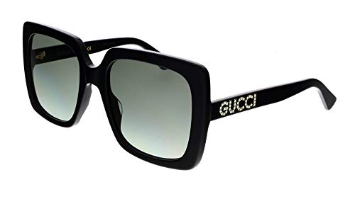 Gucci GG 0397S 002 BLACK BLACK GREY 54