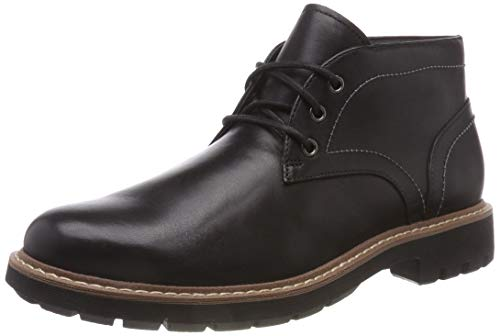 Clarks Herren Batcombe Lo Chelsea Boots, Schwarz (Black Leather), 44 EU