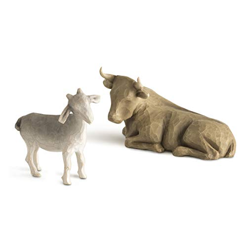 Willow Tree Ox and Goat Figurine