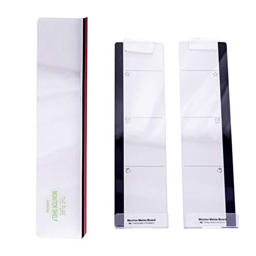 STOBOK 3 Piezas Tablero de Notas Monitor de Ordenador Soporte de Panel Lateral Almohadillas de Notas Acrílicas para Monitores de Ordenador Organizador de Escritorio de Pantalla
