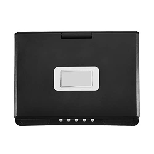 Reproductor de DVD, pantalla ancha 16: 9 de 9 pulgadas, rotación de 270 grados, reproductores de DVD con pantalla LCD de alta definición para TV con interfaz de señal de TV y USB de alta ve(negro)